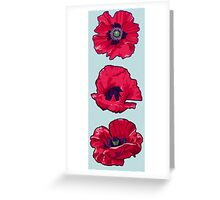 Poppies - August Birth Flower Greeting Card