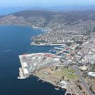 Hobart docks/city ....  Sandy Bay marina ....   by gaylene