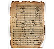 Beethoven's 9th on Antique Paper Poster