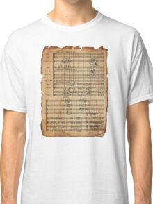 Beethoven's 9th on Antique Paper Classic T-Shirt