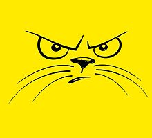 Angry Yellow Kitty Face by Winkham