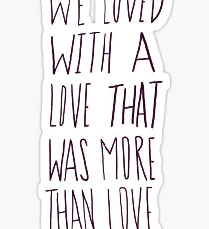 Poe: Love Sticker