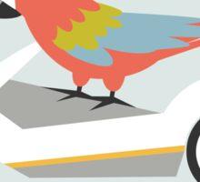 80s Macaw Sticker