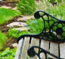 Scroll Garden Bench Scene - Digital Oil Sticker