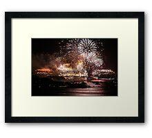 Fireworks ring in 2016 in Sydney Framed Print