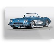 1959 Corvette Convertible Metal Print