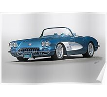 1959 Corvette Convertible Poster