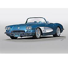 1959 Corvette Convertible Photographic Print