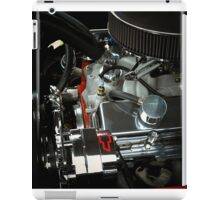 A beautiful sight of chrome. metal, and rubber ..Chevy engine (photo) iPad Case/Skin