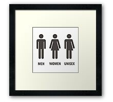 Men, Women, Unisex Framed Print