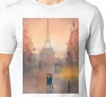 A rainy evening in Paris Unisex T-Shirt