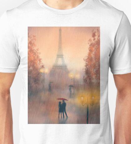 A rainy evening in Paris Unisex T-Shirt