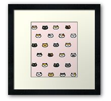 Neko Atsume Kitty Collector Cat Faces Framed Print