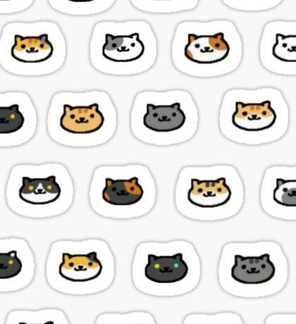 Neko Atsume Kitty Collector Cat Faces Sticker