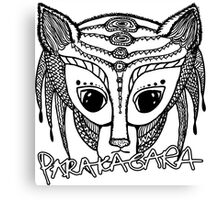 Parakagara - black pen hand-drawn alien Canvas Print