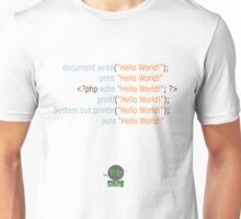 Hello World in Multiple Languages (Light) Unisex T-Shirt
