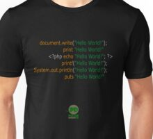 Hello World in Multiple Languages (Dark) Unisex T-Shirt