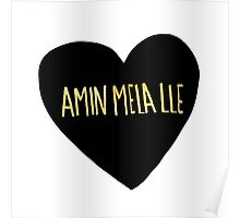 "Amin Mela Lle: ""I Love You"" in Elvish Poster"