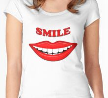 Smile With Big Lips Women's Fitted Scoop T-Shirt