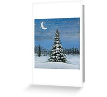 Silver Snow Greeting Card