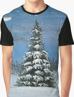 Silver Snow Graphic T-Shirt