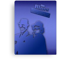 The Blues Brothers Classic Blue Canvas Print