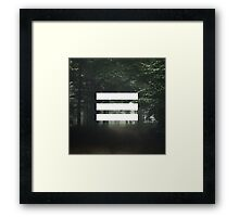 Nature stripes Framed Print