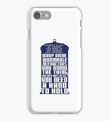 You need a hand to hold - Dr Who iPhone Case/Skin