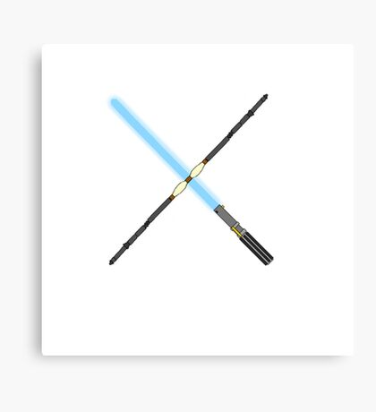Rey's lightsaber and staff Canvas Print