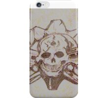 Skulls and guns  iPhone Case/Skin