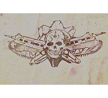 Skulls and guns  Photographic Print