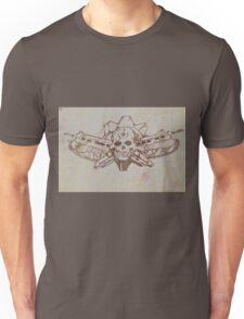 Skulls and guns  Unisex T-Shirt