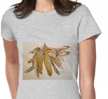 Drying sweetcorn, Italy pen and wash 2010 Womens Fitted T-Shirt