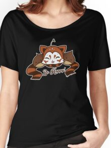 Be Happy - Kuri, the Red Panda Women's Relaxed Fit T-Shirt