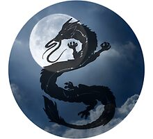 Dragon Haku Spirited Away night sky by tioticker