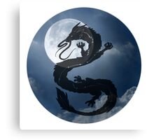 Dragon Haku Spirited Away night sky Canvas Print