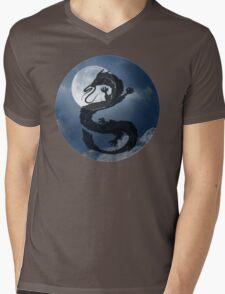 Dragon Haku Spirited Away night sky Mens V-Neck T-Shirt