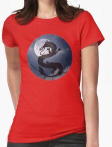 Dragon Haku Spirited Away night sky Womens Fitted T-Shirt