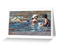 Playing In The Shallows II Greeting Card