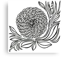 GIANT ROSE B&W Canvas Print