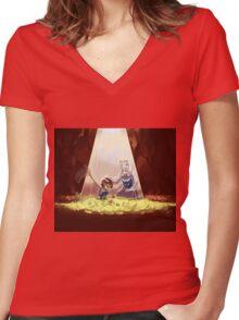 Cute Undertale Design Women's Fitted V-Neck T-Shirt