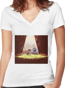 Cute Undertale Design Women's Fitted V-Neck T-Shirt