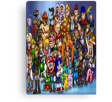 Video Game Characters Canvas Print