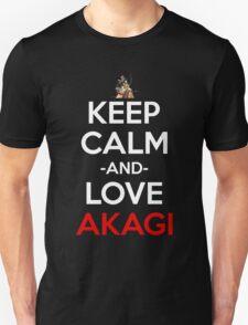 kantai collection kancolle akagi keep calm anime manga shirt Unisex T-Shirt