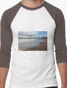 Lyme Regis Seascape 3 - January 2016 Men's Baseball ¾ T-Shirt