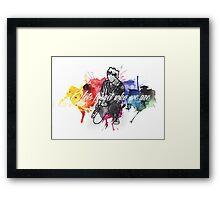 Michael Clifford Jet Black Heart Framed Print