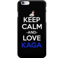 kantai collection kancolle kaga keep calm anime manga shirt iPhone Case/Skin