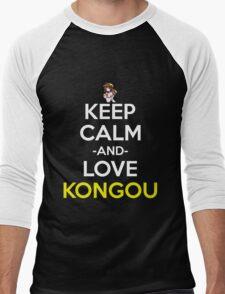 kantai collection kancolle kongou keep calm anime manga shirt Men's Baseball ¾ T-Shirt