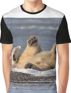 STOCK ~ Polar Bear #2 - Just Being Lazy Graphic T-Shirt