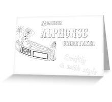 Allo Allo - Monsieur Alphonse Undertaker Greeting Card